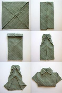 shirt napkin folding idea