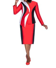 Another great find on #zulily! Red & Black Color Block Dress & Jacket - Women & Plus #zulilyfinds