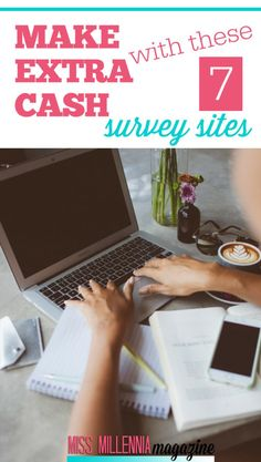 Make Extra Cash With These 7 Survey Sites - Get Started Today! Make Extra Cash with these 7 Survey s Make More Money, Ways To Save Money, Make Money From Home, Money Saving Tips, Extra Money, Money Tips, Money Hacks, Cash Surveys, Survey Sites