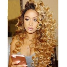 Human Hair Brazilian Remy Colored Dark Roots Honey Blonde Lace F – Lace Wigs 4 U Blonde Weave, Blonde Wig, Wig Styles, Curly Hair Styles, Natural Hair Styles, Frontal Hairstyles, Weave Hairstyles, Hairstyles Videos, Blonde Hairstyles