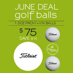 Save $14 on 1doz Titleist golf balls in June from the Pelican Waters Golf Club Proshop. P 54375000