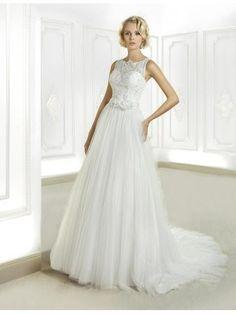Hala Květiny Zip Svatební šaty 2015