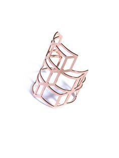 Cube cut-out cuff bracelet