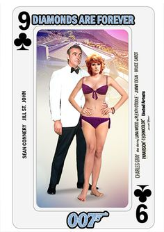 James Bond Playing Cards - series collage by PMitchell James Bond Movie Posters, James Bond Movies, Jill St John, James Bond Women, James Bond Party, Bond Series, Bond Cars, Tarot, Rachel Welch