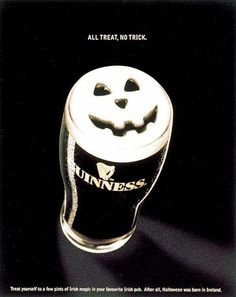 The Print Ad titled HALLOWEEN was done by Ogilvy & Mather Hong Kong advertising agency for product: Guinness Beer (brand: Guinness) in Hong Kong SAR China.
