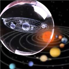 Solar System Crystal Ball - 🌌Hold The Solar System In The Midst of Your Hand As a Gift Or Simple Decoration 🔮 ✔️Laser - Inventions Sympas, 3d Solar System, 3d Laser, Space And Astronomy, Sistema Solar, 3d Prints, Cool Inventions, Crystal Ball, Laser Engraving