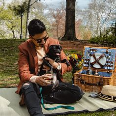 There's always time for a picnic with man's best friend and, of course, #ZacapaRum. #pug #Zacapa #Lifestyle #rum #Men'sfashion #puppy