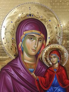 Saint Anna and the Mother of God