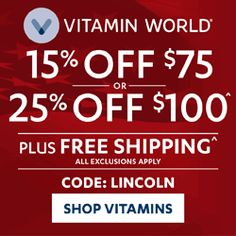 VITAMIN WORLD Founded : 1960 Weekly Wellness Sale! OMEGA 3 Mini Gels 900 mg – Now just $8.99 No Code Necessary. Ends 3/15 11:59 PM PST. THE SHOPPING GUIDE…