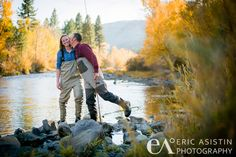 Fly Fishing on the Truckee River Betsy Dan's Fall Engagement Session