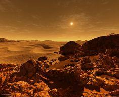 Oamanhecer nos planetas doSistema Solar - Marte