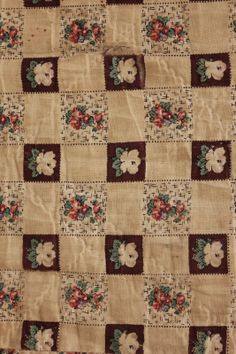 Antique French Quilt 1830 Pique Provence Printed Fabric Small Scale Print Cotton | eBay seller loodylady