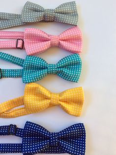 Boys bow tie baby blue teal bow tie Easter accessories boys photo prop toddler bow tie polka dot bow ties boys