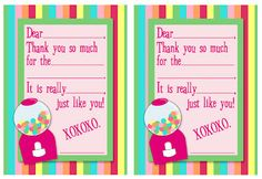 Free Printables: Fill-In-The-Blank Thank You Notes {several designs to choose from}