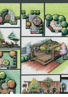 14 Clever Landscape Design Plans and Improvements for a Small Backyard – Simphome - New ideas Croquis Architecture, Landscape Architecture Drawing, Landscape Sketch, Landscape Design Plans, Garden Design Plans, Landscape Drawings, Concept Architecture, Urban Landscape, Site Plan Design