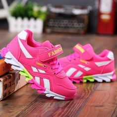Kids Sports Shoes for Girls Boy Shoes, Girls Shoes, Sneakers Fashion, Fashion Shoes, Sports Shoes For Girls, Kids Sneakers, Leather Fashion, Fashion Brand, Casual Shoes