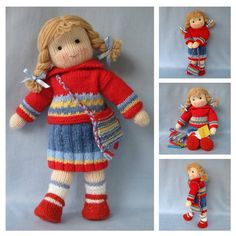Tilly doll knitting pattern  INSTANT DOWNLOAD