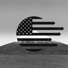 arrows. black and white. usa. american flag