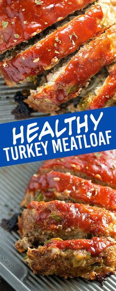 Meatloaf Recipe - moist and juicy healthy turkey meatloaf! Lightened up turkey meatloaf! So juicy and flavorful!Lightened up turkey meatloaf! So juicy and flavorful! Healthy Turkey Recipes, Ground Turkey Recipes, Quick Recipes, Healthy Meatloaf Recipes, Turkey Steak Recipes, Ground Turkey Meatloaf, Healthy Turkey Meatloaf, Crock Pot Recipes, Bacon Recipes