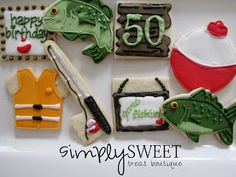 SimplySweet Treat Boutique: Fishing Decorated Cookies