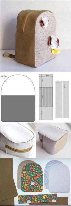 Simple BackPack Tutorial For Child - Easy Step to Step DIY! Sewing Tutorials, Sewing Crafts, Sewing Projects, Sewing Patterns, Sewing Kits, Backpack Tutorial, Diy Backpack, Backpack Pattern, Pouch Tutorial