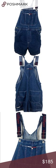 1e3d1f79582 Vtg 90 s Tommy Jeans Overalls Carpenter Bib Large Brand  Tommy Jeans  Detail  Women s Tommy