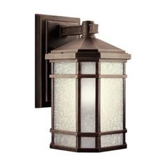 Kichler Lighting 9719PR Cameron 1-Light Incandescent Outdoor Wall Mount, Prairie Rock with White-Etched Linen Glass, 14-1/2-Inch by Kichler. Save 30 Off!. $145.02. From the Manufacturer                The Kichler Lighting 9719PR 1-Light Incandescent Cameron Outdoor Wall Mount measures 8-Inch wide with a body height of 14-1/2-Inch. Enjoy the look of handcrafted finery with the Cameron family. The simple design of this Arts and Crafts collection is skillfully interpreted for today's home...