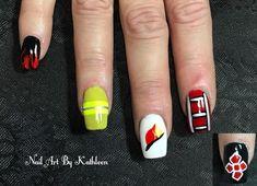 Fire Department Nail Art #nails #nailart #naildesign #notd #firefighter #firedepartment #freehand #fhnailart #freehandnailart #nails2018… Firefighter Boyfriend, Firefighter Decor, Nails 2018, Firefighting, Art Nails, Fire Department, Beauty Nails, How To Do Nails, Nail Ideas