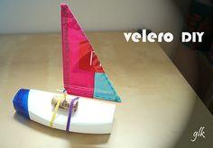 vaixell · velero DIY · juguetes · reciclaje DiY boat · toys · recicle