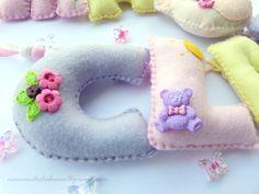 Maria Clara, Felt Letters, Quilts, Embellishments, Craft