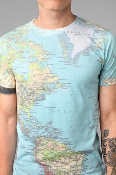 "Around The World Tee  #UrbanOutfitters ~ Okay, so it's not so ""pretty"", but for the traveler in each of us, it somehow yells >buy me< !°¿°!"