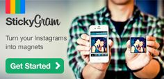 StickyGram: a novel product. Use your own instagram pics to create custom covers for your iPad, iPhone, magnets, etc...