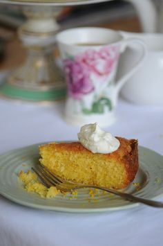 Orange and Amaretto Polenta Cake - Ren Behan Food | renbehan.com