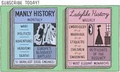 Tom Gauld on sexism in history writing for The Guardian.