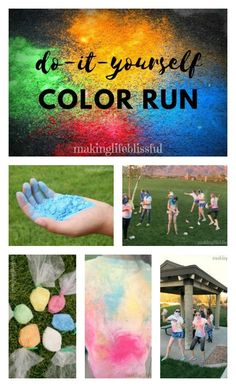 Do-It-Yourself Color Run | Making Life Blissful perfect for youth groups for LDS Young Women Value Color Run idea!