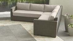 Ventura 3-Piece Sectional with Sunbrella ® Cushions | Crate and Barrel