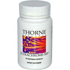 Thorne Research, Ultrachrome-500, 60 Veggie Caps, Diet Suplements 蛇