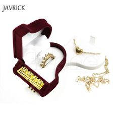 JAVRICK Beautiful Piano Ring Box Earring Necklace Pendant Jewelry Treasure Gift Case Wedding (Size: 6cm by 5cm by 3.5cm) ZB380
