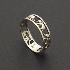 Vintage Lucky Elephant Ring / solid 925 sterling silver band ring, walking elephant ring, handmade ring / R003S by CreBijoux on Etsy https://www.etsy.com/listing/229139303/vintage-lucky-elephant-ring-solid-925
