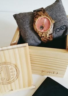 """There's no other way to put it: JORD Watches are quite simply works of art! JORD watches are stunning, hand-crafted men's and women's watches that are made out of some of the most beautiful WOOD in the world! Yes, you read that correctly…wood. Click the photo to find out about the """"Cora"""", a gorgeous women's watch made from zebrawood and detailed with Swarovski crystals."""