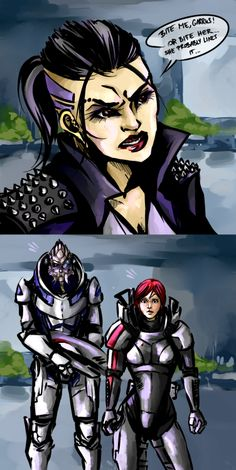 Lol!!! - Tho I see Garrus n Femshep covertly smirking at each other once everyone's backs are turned haha! ;-}
