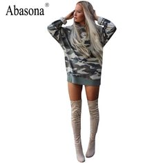 Dresses 1  New 2017 Autumn Casual Camouflage Print Mini Party Dress Women Cute's vestido Winter Long Sleeve Sexy Bodycon Dress * AliExpress Affiliate's Pin. Click the VISIT button to enter the website