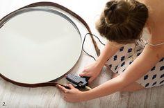 spiegel met riem, zelf spiegel maken, ikea hack spiegel