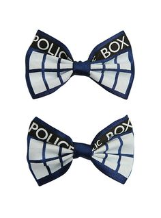 Doctor Who TARDIS Hair Bow 2 Pack,