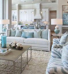 Coastal Bedrooms, Coastal Living Rooms, Small Living Rooms, Living Room Grey, Home And Living, Living Room Designs, Living Room Decor, Modern Living, Barn Living