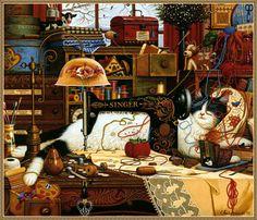 levkonoe: Charles Wysocki. Maggie The Messmaker