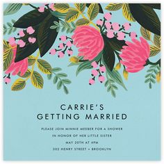 Celebrate your most important occasions with Rifle Paper Co.'s illustrated invitations and cards—including customizable wedding invitations and stationery, too. Stationery Design, Invitation Design, Wedding Paper, Wedding Cards, Wedding Shower Invitations, Invites, Rifle Paper Co, Floral Illustrations, Watercolor Flowers