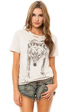 The Lupus Spiritus Destroyed Tee in Chateau Gray by Obey