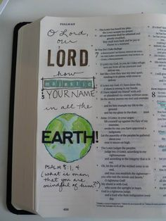 how majestic is your name page in Bible, Bible journaling