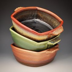 """2,000 followers! I didn't see this coming. Thanks to everyone who has shown interest in my work. The feedback has been very motivating. As a way to say thanks I'll be having my first pottery giveaway coming soon. Stay tuned. You may remember these 9"""" squared casseroles that I posted a few weeks back. They are all done and I'm pleased with my first ones out of the kiln. #pottery #ceramics #madeinaskutt #instapottery #claycrits #wheelthrown #altered"""
